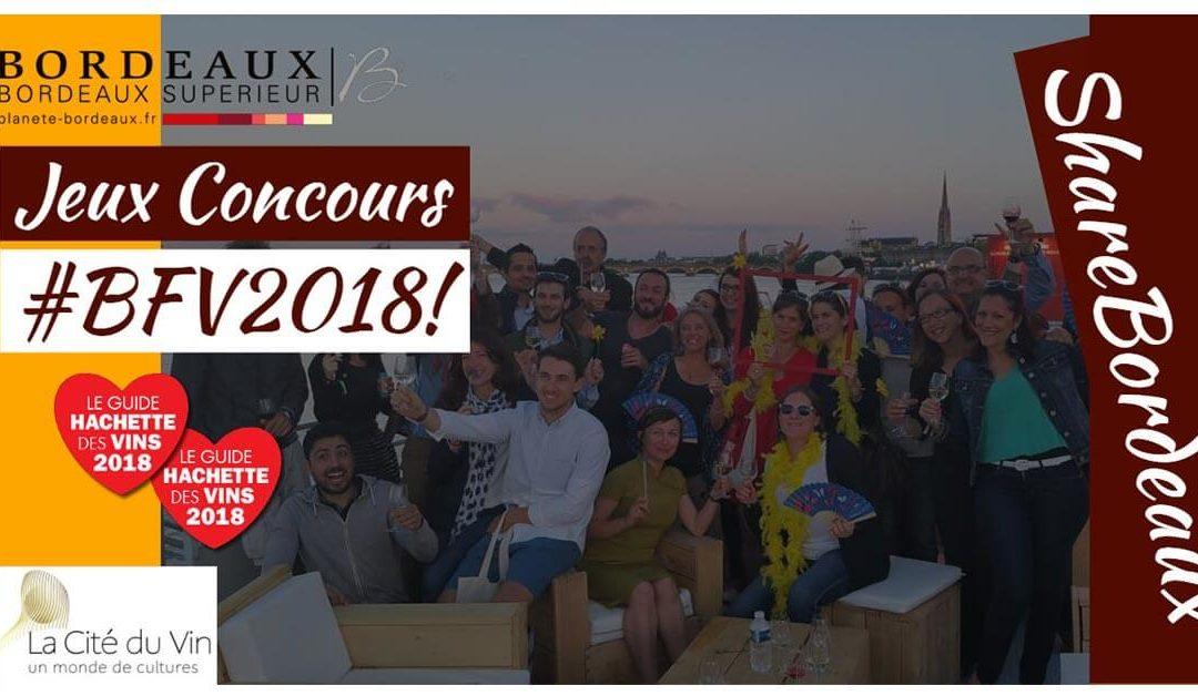 Bordeaux Fête le vin 2018 – Jeu concours spécial AOC de #Bordeaux